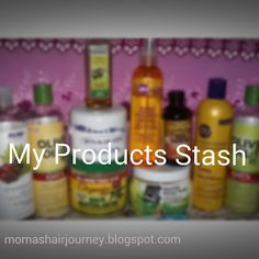 Moma's Healthy Hair Journey: My One Year Product Stash
