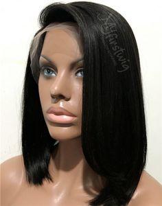 Raven - Malaysian Hair Elegant Bob LACE FRONT WIG - LFW003
