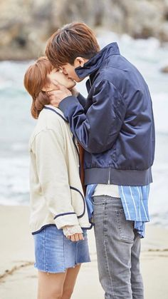 Min Hyuk and Bong Soon's first kiss.
