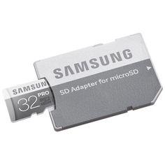 Chollo en Amazon España: Tarjeta de memoria Samsung Pro Micro SDHC de 32 GB con adaptador SD por 15€ (68% de descuento y precio mínimo histórico).