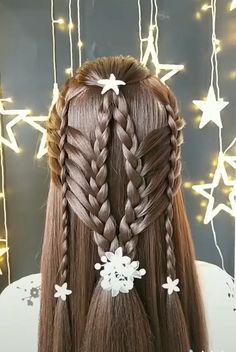 Step By Step Hairstyles, Braided Hairstyles Tutorials, Diy Hairstyles, Hairstyle Ideas, Quince Hairstyles, Front Braids, Hair Upstyles, Front Hair Styles, Braids For Long Hair