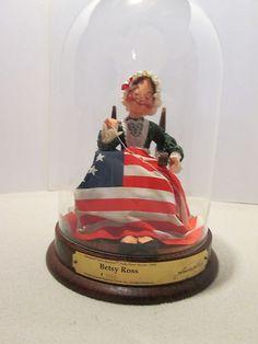 1990 Annalee Doll Society Folk Series Betsy Ross 1350 Doll w Glass Dome   eBay