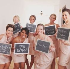 Where bride met all her bridesmaids So cute!!!