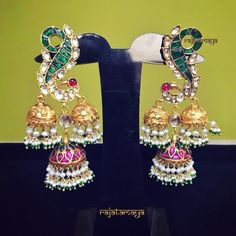 25 Unique Earrings Designs Apt for Any Ethnic Outfit Indian Jewelry Earrings, Buy Earrings, Dog Jewelry, Small Earrings, Antique Earrings, Heavy Earrings, Earrings Online, Cuff Jewelry, Bridal Jewellery