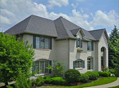 Outstanding re-roofing project by Elk Roofing LLC in Indianapolis. The home features Landmark roofing shingles in the color Driftwood. Certainteed Shingles, Roofing Shingles, Driftwood Shingles, Types Of Roof Shingles, Roof Shingle Colors, Roofing Options, Architectural Shingles, French Style Homes, Roof Window