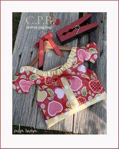 Riley Blake Designs -- cute clothes pin bag