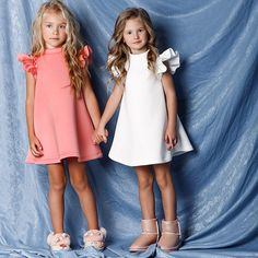 Sewing Summer Dresses, Dresses Kids Girl, Kids Outfits, Dress Sewing, Baby Girl Fashion, Toddler Fashion, Kids Fashion, Little Girl Models, Baby Dress Design