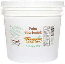 Image of Organic Palm Shortening from Tropical Traditions. Palm shortening is a healthy subsitute in your favoite bisquit recipes for hydrogenated shortening.
