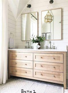 Light Wood Bathroom Vanity 65 Ideas For 2019 Rustic Bathroom Decor, Wood Bathroom, Bathroom Kids, Bathroom Vanity Lighting, Bathroom Styling, Bathroom Flooring, White Bathroom, Small Bathroom, Master Bathroom