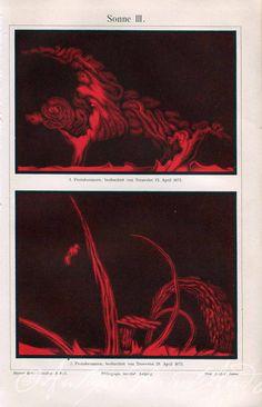 Solar Flare Protuberance Prominence The by AntiquePrintsAndMaps, $20.00
