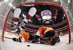 A great view of David Clarkson's 2012 playoff goal against the Flyers