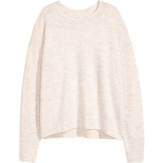 Oversized jumper ($22) ❤ liked on Polyvore featuring tops, sweaters, drop shoulder sweater, oversized wool sweater, ribbed top, fine knit sweater and oversized sweaters