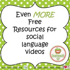 On the blog this week, more FREE social language video resources!  Hop over and check it out..