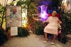PHOTOS: A Puerto Rican woman's funeral wishes were granted on Monday when her body was propped up in her favorite rocking chair. And she wasn't the first who didn't want to rest in peace.
