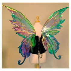 Delia 3 panel large fairy wings in your choice of colors ($350) ❤ liked on Polyvore