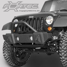 Rampage Products Stubby Bumper in Matte Black with Grille Guard for 07-16 Jeep Wrangler JK & JK Unlimited