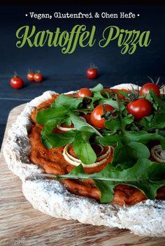 Rezept für super einfache Pizza! Vegan, glutenfrei und ohne Hefe. Flammkuchen Vegan, Pizza Burgers, Vegan Pizza, Foodblogger, Super, Ms, Diet, Vegetables, Gluten Free Pizza