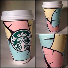 Palm Sunrise. Art by ladykate17 @Starbucks Loves #whitecupcontest