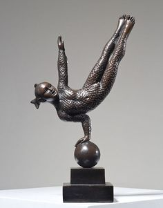 "Equilibrist Child - Position 165 by Sergio Bustamante Bronze 39"" x 9"" x 9"" Meyer Gallery"