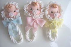 Multinotas: Recuerdos de porcelana en frio para Baby Shower