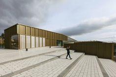 Cultural Center at Saint-Germain-lès-Arpajon by Ateliers O-S architectes