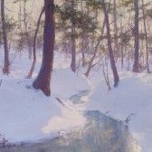 Palmer-Stream in Winter, Sunset -->>>Also, go to the web site for a great biography!<<<
