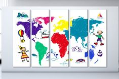 World map poster world map on canvas canvas map world map canvas childrens world map world map poster world map canvas kids world map canvas world map canvas nursery extra large kids wall art kids room art gumiabroncs Gallery