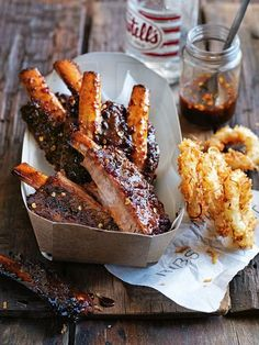 Sweet Pickled Chilli and Lime Ribs - Donna Hay Rib Recipes, Cooking Recipes, Donna Hay Recipes, Gula, Sweet Pickles, Food Truck, Love Food, Tapas, The Best