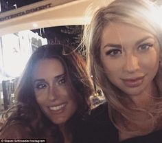 Suport system: Stassi Schroeder is recovering after undergoing a breast lift and reduction...