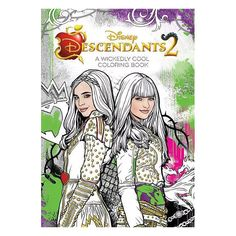 Descendants 2 A Wickedly Cool Coloring Book (Art of Coloring), a book by Disney Book Group Coloring Book Art, Coloring Pages For Girls, Disney Channel Descendants 2, Ink Illustrations, The Villain, Fashion Books, Women's Fashion, Book Authors, Print Pictures