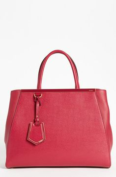 Fendi '2Jours Elite' Leather Shopper, Medium available at #Nordstrom  << One of my favorite corporate women wears