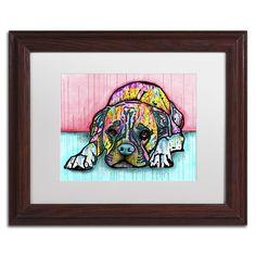 Trademark Dean Russo 'Lying Boxer' Matted Framed Art