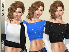 So many nice dress in City Living EP that is impossible for me don't make some recolors :))) I tried to give a pinch of style to this nice sweater. I made 12 recolors. Found in TSR Category 'Sims...