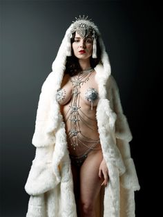 This is definitely fantasy/anime inspiration for a character. Pretty sure only a fake chick could ever get away with it!