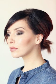50 Gorgeous Party Hair ideas for New Year's Eve - chic updo for short hair