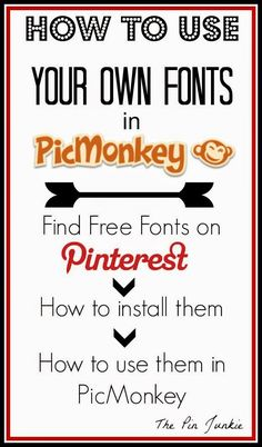 How To Download and Install Fonts. Then Use Them For Free in PicMonkey all in Three Easy Steps!