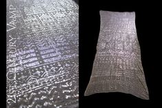 1920s Silver Assuit Shawl. Beautiful Patterns. by 21stCenturyVamp