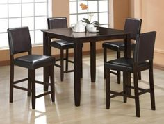 5 Pc Derick Counter Height Table and 4 Stools Set $305.43