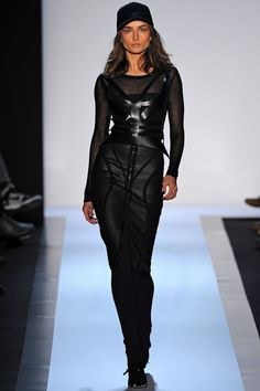 harness fashion for FW2013, here by Herve Leger by Max Azria, worn by drop dead gorgeous Andreea Diaconu