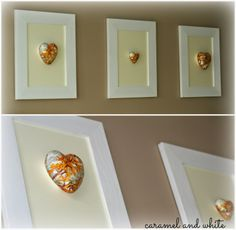 pictures.decoupage.handmade by Ania.caramel and white