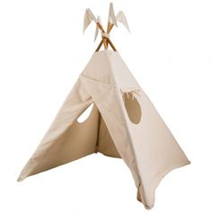 This tipi tent from Numero 74 is a lovely addition to any child's playroom. In off-white cotton fabric with wooden poles t will create a own little space for your child to hide, play, read or relax in. Oliver Furniture, Teepee Play Tent, Teepees, Wooden Poles, Baby Towel, Party Items, Fabric Covered, Dusty Rose, Decoration