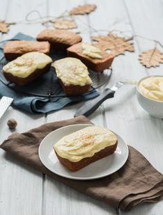 Mini Pumpkin Eggnog Loaves with Eggnog Cream Cheese Frosting