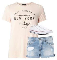 """""""Untitled #2794"""" by laurenatria11 ❤ liked on Polyvore featuring Dorothy Perkins, Armani Jeans and Converse"""