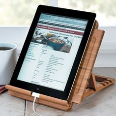 Tablet Stand...great idea for recipes I am working on in kitchen