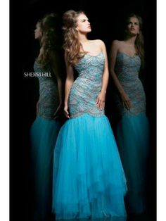 Sherri Hill 11080 Prom Dress Mermaid Blue