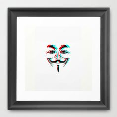 Anonymous.2 Framed Art Print by Laure.B