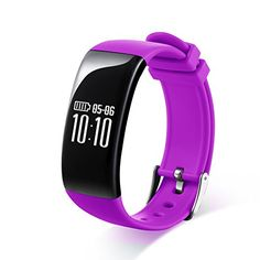 RG Waterproof Bluetooth Fitness Tracker Wristband Smart Bracelet With Heart Rate Monitor Purple *** See this great product.