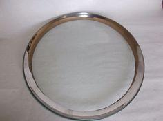 """Annieglass Roman Antique Platinum 12"""" Buffet Plate, signed, 1999, VGUC, #2 #Modern"""