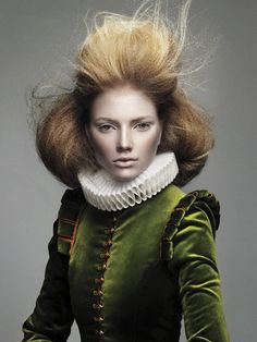 Hair: Errol Douglas at Errol Douglas, Knightsbridge. Photography: Andrew O'Toole Elizabethan Fashion, Victorian Fashion, Creative Hairstyles, Up Hairstyles, Layered Hairstyles, Mode Renaissance, Prince Charmant, Lady, Renaissance Fashion