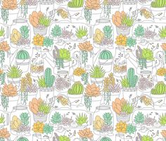 Home is Where My Plants Are fabric by k80horn on Spoonflower - custom fabric